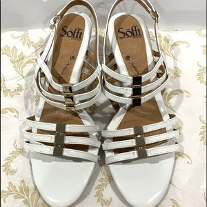 Brand New Sofft White Wedge Sandals 8